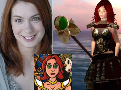 Felicia Day and Guild Character and SL avatar
