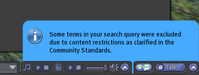 Search terms filter