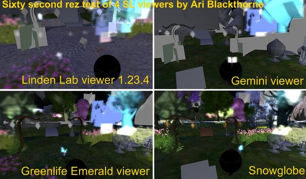 New World Notes: Which Second Life Viewer Rezzes Fastest? Ari's 60