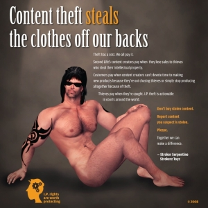 Stroker Anti Content Theft PSA