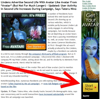 IMVU advertising with Avatar on NWN