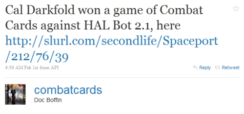 Combat Cards Twitter Feed