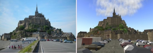 Mont St Michel in RL and SL