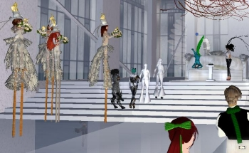 Performance Art wedding in Second Life