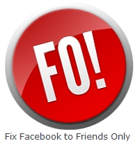 Facebook Friends Only Button
