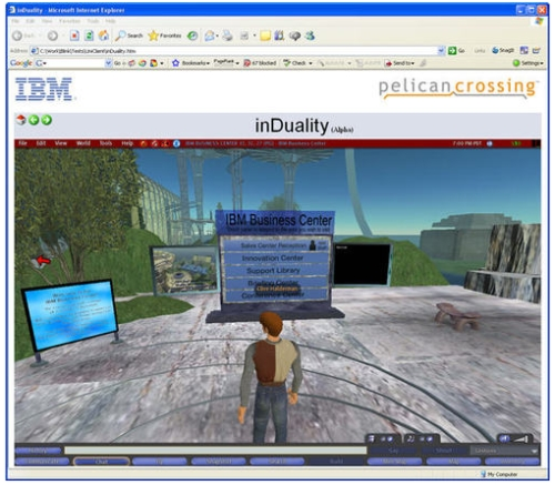Second Life on a browser