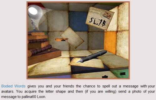 Bodied Words at SL7B Second Life