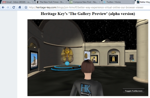 Running Heritage Key in Chrome Browser