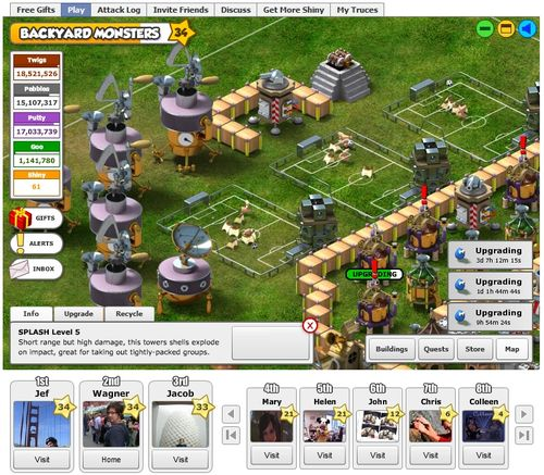 Backyard Monsters - New World Notes: New World Gaming: Backyard Monsters, The Facebook