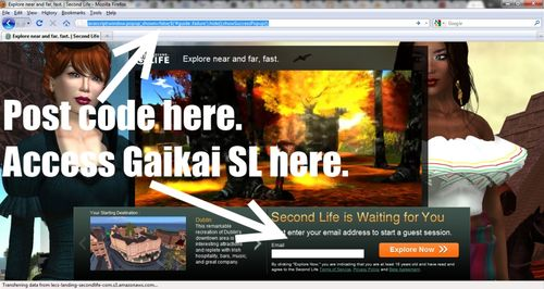 Accessing Second Life via Gaikai