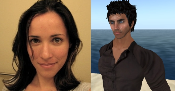 Rebecca as Second Life male