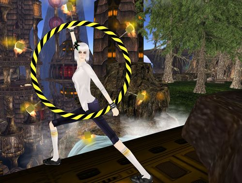 Delaney Whippet Fire Dancer Second Life