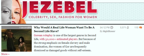 Jezebel Second Life Gor