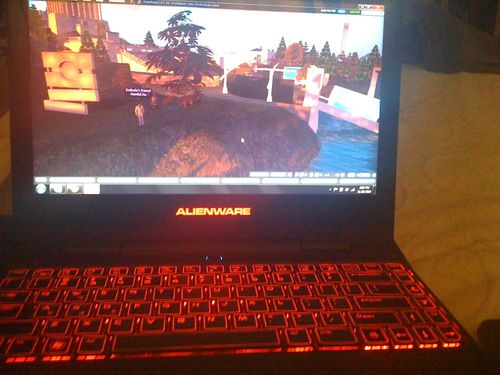 Alienware running Second Life with Shadows