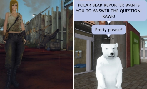 Zombie Medic and Polar Bear Avatar Blue Mars