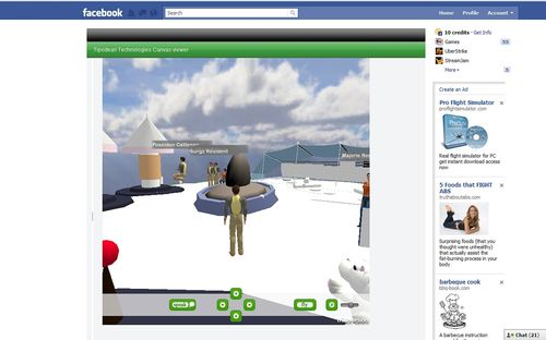Canvas SL OpenSim compatible viewer Facebook