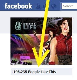 Official Facebook Second Life page