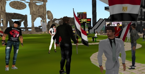 Egypt Protest in Second Life