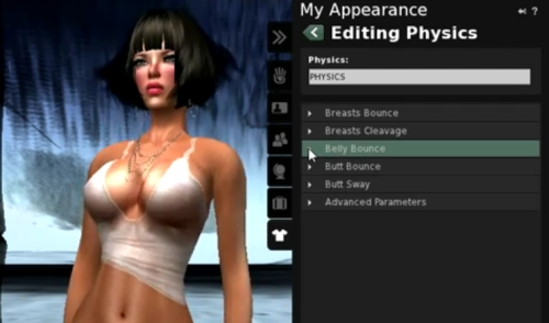 Second Life avatar physics