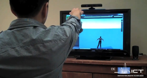 Flying in Second Life with Kinect