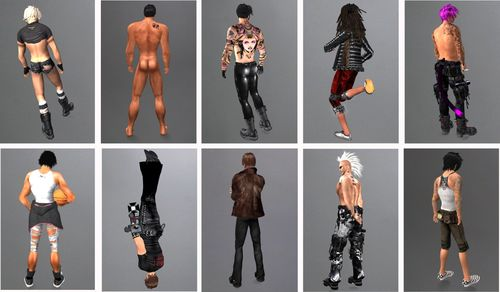 Second Life hot male avatars detail