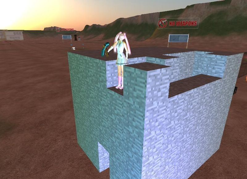 Minecraft style mining in Second Life