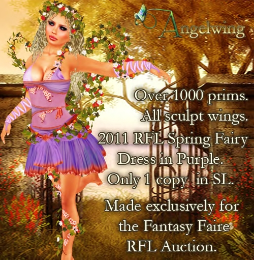 Second Life Fantasy Faire Relay for Life Auction