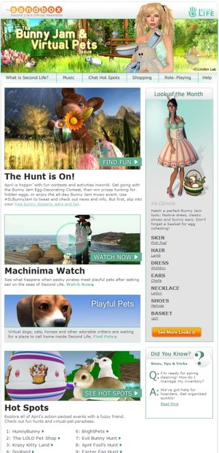 Second Life newsletter
