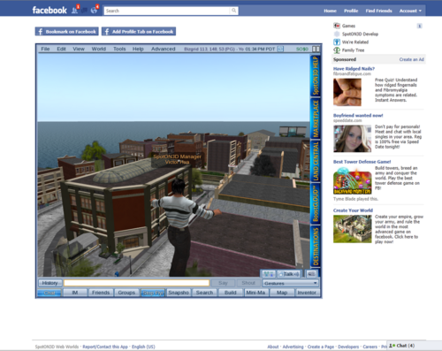 Exploring content in SpotOn3D Facebook