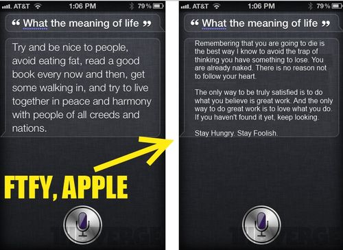 Siri Meaning of Life iPhone 4s
