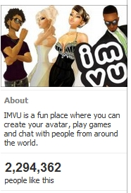 IMVU user numbers