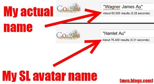 Wagner James Au vs Hamlet Au on Google