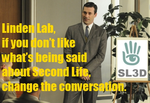 Don Draper on Second Life rebrand
