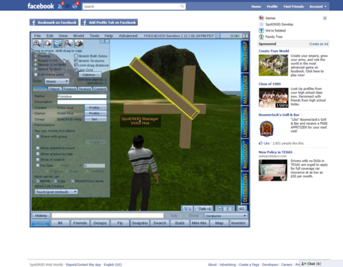 Creating content in SpotOn3D Facebook