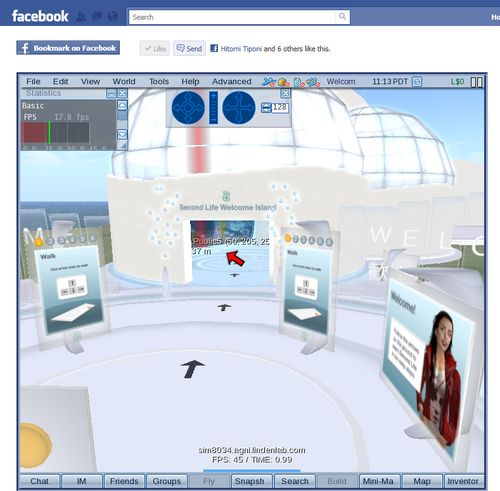 Second Life in Facebook