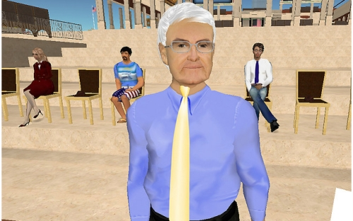 Newt Gingrich Second Life President