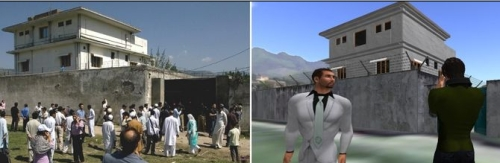 Osama bin Laden compound Real Life and Second Life