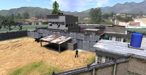 Osama bin Laden Abbottobad compound simulated in Second Life