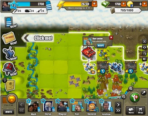 Army Attack Facebook Game