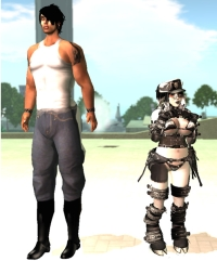Second Life Avatar size