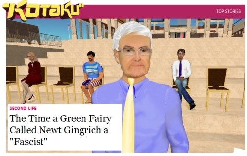 Newt Gingrich Second Life