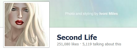 Second Life Facebook page