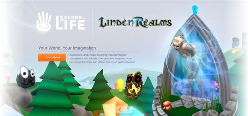 Second Life homepage
