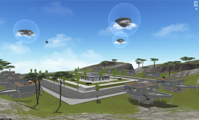 Cloude Party virtual world islands