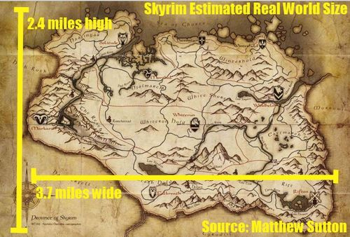 Skyrim Estimated size