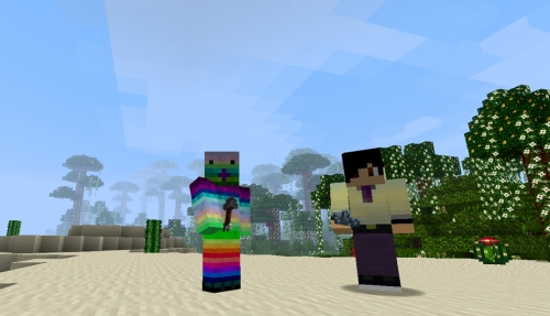 Desmond and Emilly Orr in Minecraft