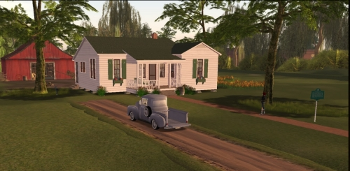 Johnny Cash home in Second Life