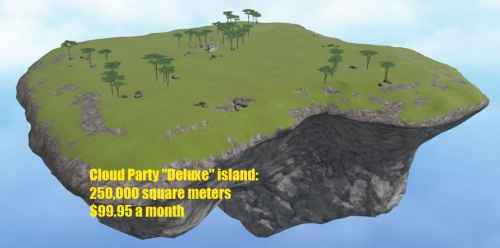Deluxe Cloud Party island