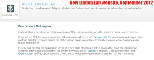 New Linden Lab branding