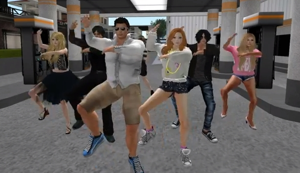 Gangnam Style in Second Life machinima